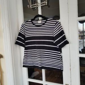 🆕️Anthropologie - Striped Shortsleeve Sweater
